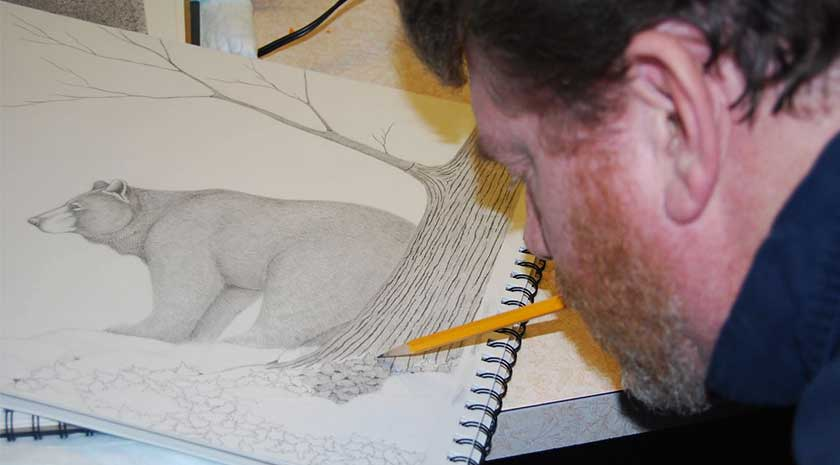 Bruce Dellinger at work in his studio