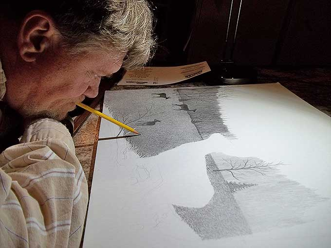 Bruce Dellinger at work in his studio